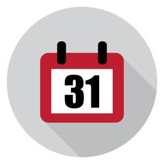 31 calendar days flat vector illustration