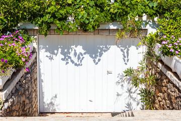 Suburban family house with garage