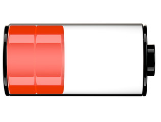 Red orange battery status 40 percent