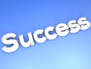 Success concept blue