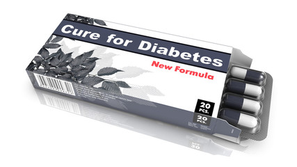 Cure for Diabetes - Gray Pack of Pills.