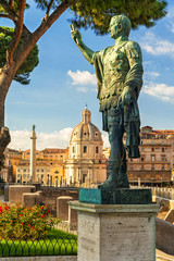 Bronze statue of the emperor Nerva in Rome