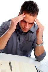 Man having headache.
