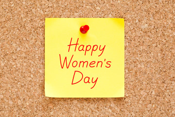 Happy Womens Day Sticky Note