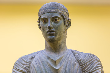 The Charioteer of Delphi in Greece