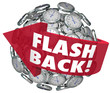 Flashback Arrow Clocks Sphere Looking Back Nostalgia Memories - 79122150