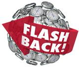 Flashback Arrow Clocks Sphere Looking Back Nostalgia Memories poster