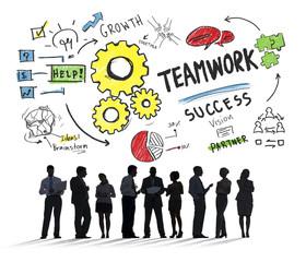 Teamwork Team Together Collaboration Business People