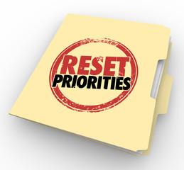Reset Priorities Manila Folder Files Top Most Important Jobs Tas