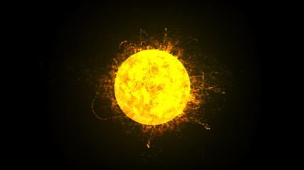 Sun Burning Animation Loop