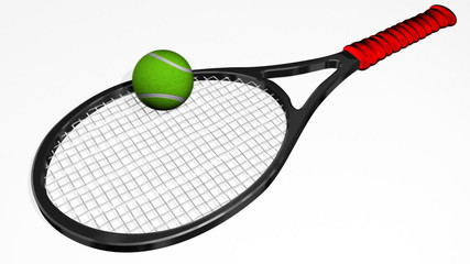 Tennis Racket Bouncing Ball Animation