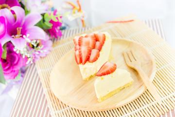 piece of strawberry tart