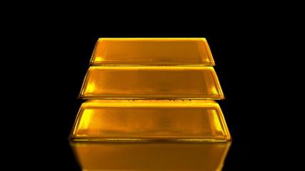 Gold Bricks Bullion Animation (Loop)