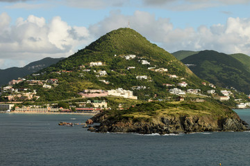Scenic view of the island of Saint Martin