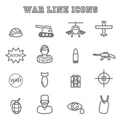 war line icons