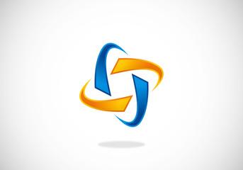 abstract circle connection vector logo