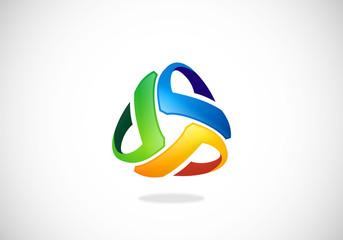 abstract circle company vector logo