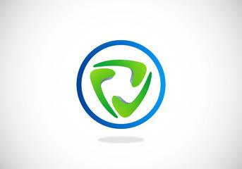 abstract circular connection vector logo