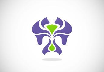 abstract natural decorative abstract vector logo