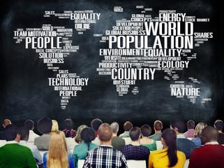 World Population Global People Community International Concept