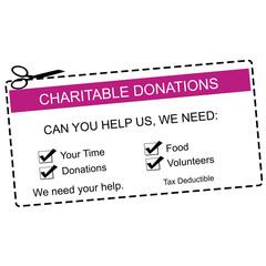 Charitable Donations Purple Coupon