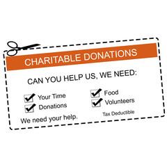 Charitable Donations Orange Coupon