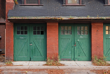 old fashioned garage doors