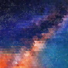 Triangles pattern of geometric shapes. Colorful mosaic backdrop
