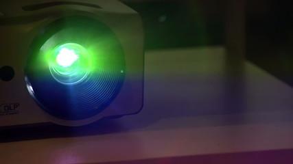 Shimmering Projector Beam