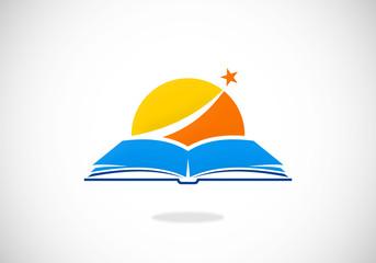 book horizon knowledge vector logo