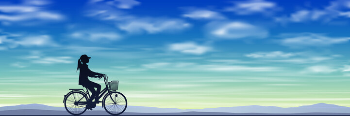 A Girl on a Bicycle