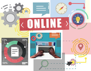 Online Technology Media Communication Social Networking Concept