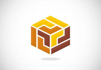 box square abstract vector logo