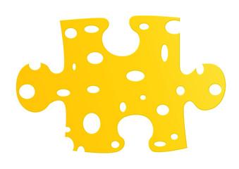 Käse Puzzle / Puzzleteil / Chees