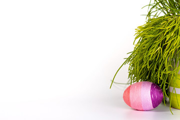 easter egg with green grass