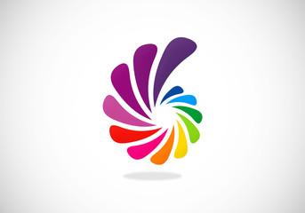business colorful circular abstract vector logo