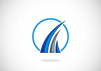business finance loop abstract vector logo