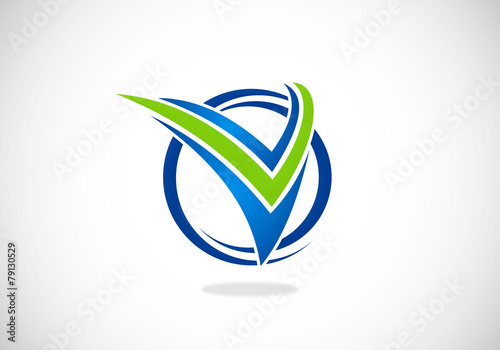 business finance victory letter V abstract vector logo