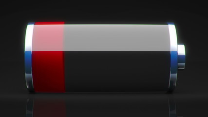 red to green battery charging animation