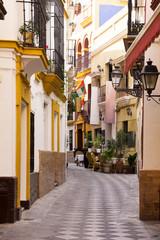 Old street in Seville, Spain