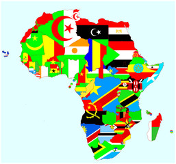 Africa countries and flags