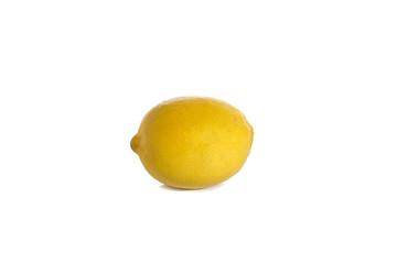 ripe lemon on white background