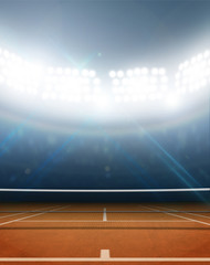 Stadium And Tennis Court