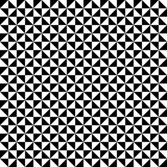 Retro Corners Seamless Pattern Black/White