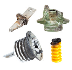Fragments of defect of insulators for High Voltage
