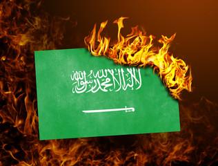 Flag burning - Saudi Arabia