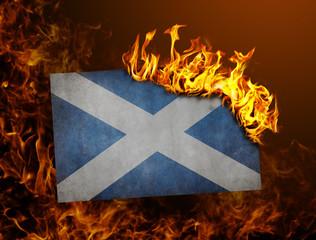 Flag burning - Scotland
