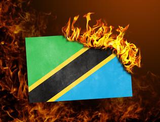 Flag burning - Tanzania