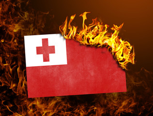 Flag burning - Tonga