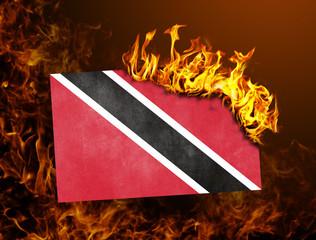 Flag burning - Trinidad and Tobago